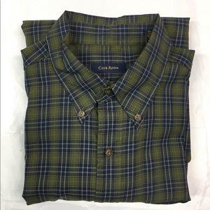 Club Room Long Sleeve Green/Blue Plaid Shirt